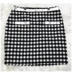 Etcetera black and white gingham check skirt, SZ 6